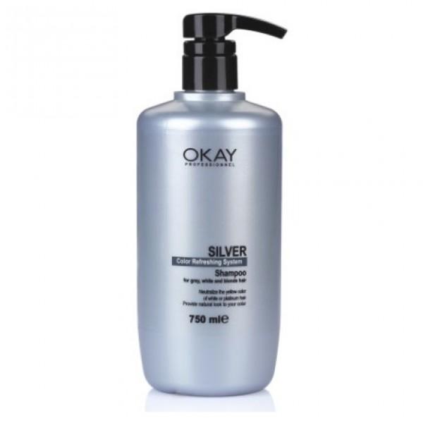 okay silver şampuan 750 ml